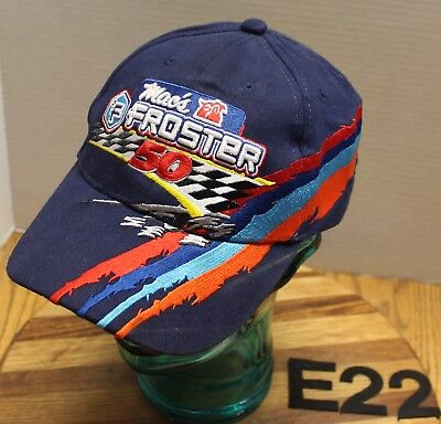 460ce18ecafd9d Mac's Froster 50 Racing Hat Blue Embroidered Strapback Adjustable Vgc E22