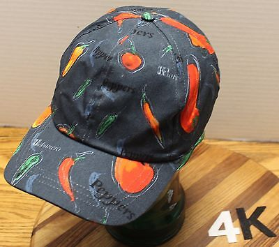 Chef Works Hot Peppers Jalepenos Habaneros Hat Adjustable Very Good Condition 4K