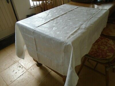 Unused Irish Linen Damask Tablecloth - 54 Inches Square