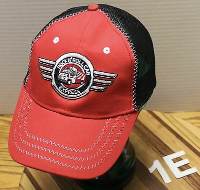 Rock N' Roll Express Snap-On Hat Red And Black Adjustable Very Good Condition