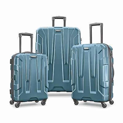 "Samsonite Centric 3 Piece Hardside TSA Luggage Set Spinners 21"" 24"" 28""- Teal"