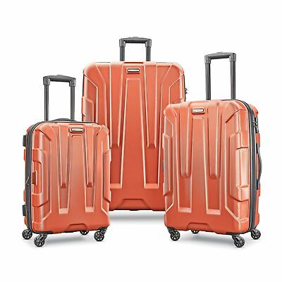 "Samsonite Centric 3 Piece Hardside Luggage Set Spinners 21"" 24"" 28""-Burnt Orange"