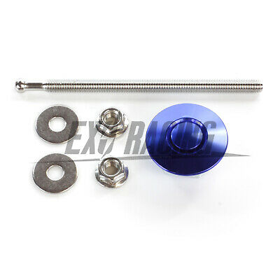32mm Exoracing Blue Bumper/ Boot Push Button Quick Release Pin Latch