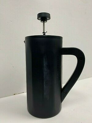 Starbucks Stainless Steel Coffee Press/ with some stain- Matte Black 8 cup