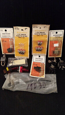 Lot of Vintage Parts Switches Circuits Toggle Pushbuttons NEW & USED (Q79)