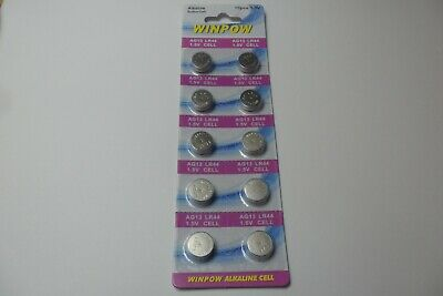 10 X Lr44 Ag13 1.55V Alkaline Button Cell Batteries Battery T