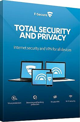 F-SECURE TOTAL Security & Privacy (1Yr / 3PCs) Devices Genuine Authentic Licence