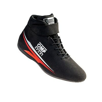 Omp Sport Race Shoes Rally Motorsport Boots Black Fia 8856-2000 New 2018 Uk 4