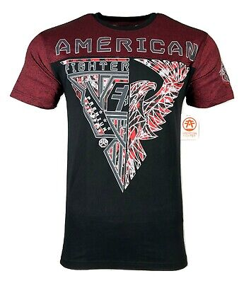 AMERICAN FIGHTER Mens T-Shirt FAIRBURN Athletic Biker MMA Gym UFC $40