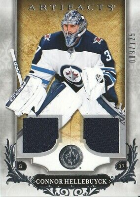 Connor Hellebuyck 2018-19 Upper Deck Artifacts Dual Jersey /125