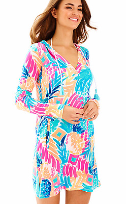 b4c43d600e NWT Lilly Pulitzer UPF 50+ Rylie Cover Up Dress Goombay Smashed Size M 25341