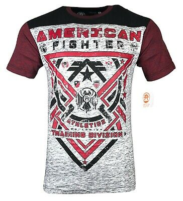 AMERICAN FIGHTER Mens T-Shirt GALESVILLE Athletic Biker MMA Gym UFC $40