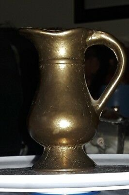 Very Small Solid Brass Pitcher