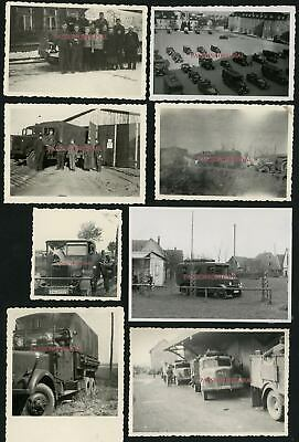 8xPHOTOS WW2 CAMIONS GERMAN TRUCKS LKW BÜSSING OPEL BLITZ MERCEDES? SAURER? MAN?