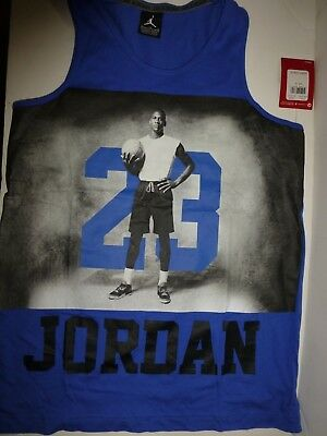 104b2c44d0c56 NIKE AIR JORDAN Boys Youth Athletic Active Jersey Tank Top Muscle T ...