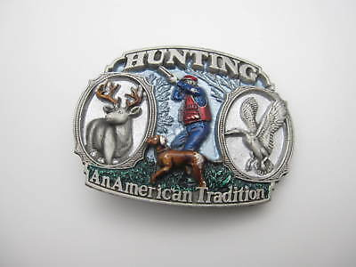 Vintage 1986 Hunting An American Tradition Belt Buckle (A9) Made in USA