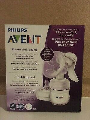 New Philips Avent Manual Breast Pump Set -1 Pump Body, 1 Natural Bottle + More