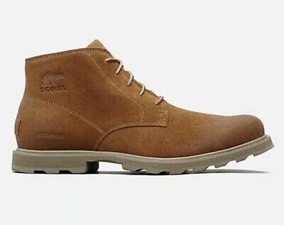 5cea41c956e NEW $170 SOREL Mens Madson Chukka Boots Waterproof Leather Suede Camel Brown