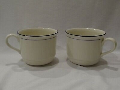 2 Lenox Chinastone Blue Pinstripes For the Blue Patterns cups