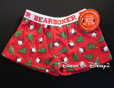 NEW Build-A-Bear CHRISTMAS TREE Holiday BEARBOXER SHORTS Teddy Clothes