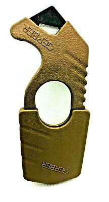 New with Tags Gerber Coyote Brown Multicam Strap / Seat Belt Cutter Rescue Hook