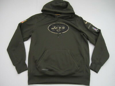 Cheap MENS LARGE NEW York Jets Nike Salute to Service Therma Fit hoodie  for sale