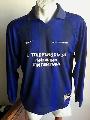 Maglia calcio nike sc verkehrsbetriebe bern swiss football shirt jersey size XL
