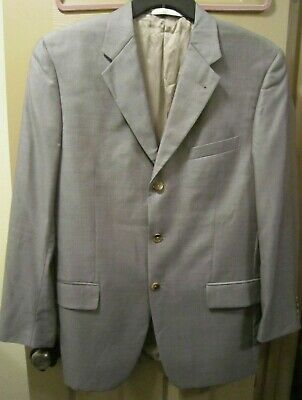 Sz 40R Joseph Abboud Nordstrom Mens Brown Wool & Silk Suit Jacket Blazer, Euc