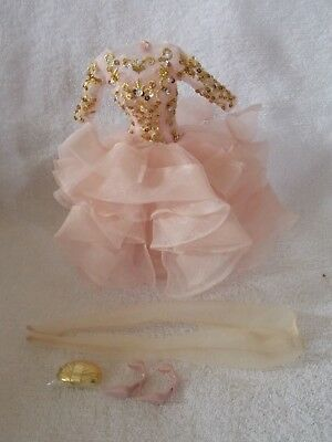 Barbie Doll Silkstone Blush & Gold Cocktail Dress Fashion & Accessories Only