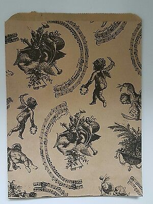 """Paper gift bags Vintage Cherub patterned medium size 7""""x9"""" 50 pieces shops,craft"""