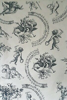 """Paper gift bags Vintage Cherub patterned Large size 10""""x14""""50 pieces shops,craft"""