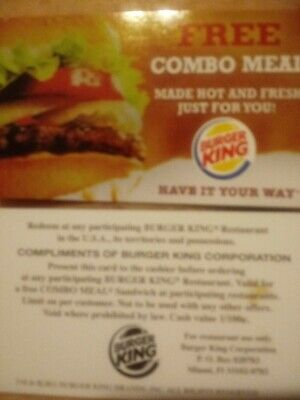 10 burger King combo Voucher