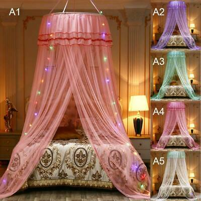 Hanging Bed Netting Canopy Baby Crib Princess Children Dome Lace Mosquito Net & PURPLE LIGHTED BED Canopy Sparkling Led Lights Kids Girls Princess ...