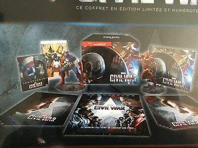 Captain America : Civil War Coffret Steelbook Edition spéciale Fnac Blu-ray