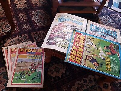 Tiger & Scorcher ( & speed) , roy of the rovers, the crunch, the warlord comics