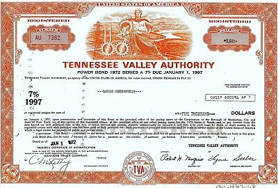 Tennessee Valley Authority, 1972,  7% Power Bond Ser. A due 1997 (5.000$)
