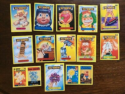 Very Rare  Garbage Pail Kids ITALY I MITICI SGORBIONS 4th SERIES  YELLOW BORDER
