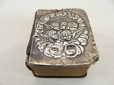Antique Miniature Prayer Book With Silver Front Cover /birmingham 1909 Ref1074/2