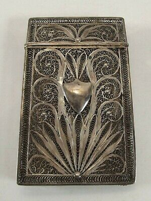 Antique Filigree Silver Card Case  Ref 1074/4