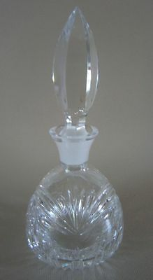 WATERFORD PERFUME BOTTLE Marquis Clear Cut Crystal w/ Fleabite on Tip Stopper