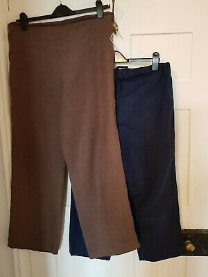 Blooming Marvellous Size 12 Summer Linen Trouser Bundle