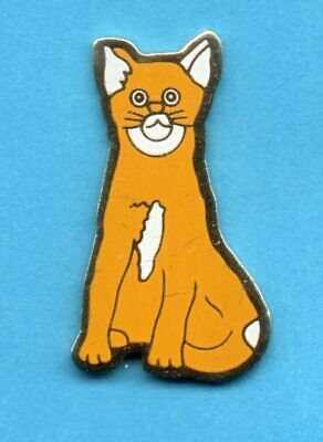 Pin's pins KATZE CAT GATO GATTO KAT CHAT ROUX ET BLANC