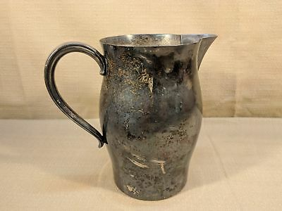 Vintage Paul Revere Reproduction Silverplate Water Pitcher 7.5 x 8