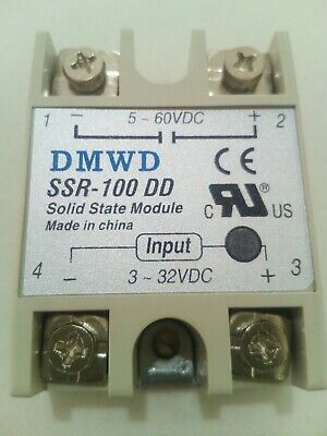 UK stocked Solid state relay 100amp 3-32VDC to 5-60 VDC DC SSR-80 Low voltage DC