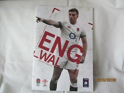 England v Wales. Rugby Union. Twickenham. Programme + Event Tickets.