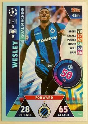 Topps Match Attax Champions League 2018-2019 Card No. 341 Wesley
