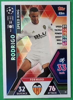 Topps Match Attax Champions League 2018-2019 Card No. 70 Rodrigo