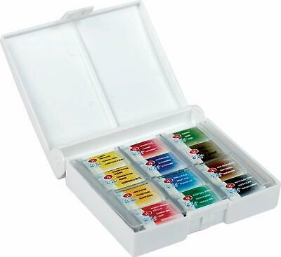 Blanc Night Artistes Aquarelle Artistes Aquarelles Set 12 Pans, Plastique Box