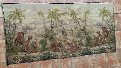 """Antique French Tapestry - Arabic Dance Scene 33"""" By 69"""""""