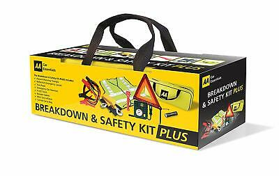 AA 5618 Breakdown & Safety Kit Pus, with Tyre Inflator - Multicolor